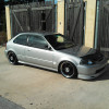 Silver EK Hatch B20 Turbo